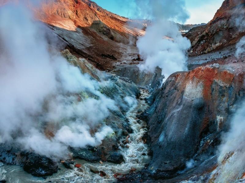 Обработка пейзажа. Панорама из Мутновского вулкана